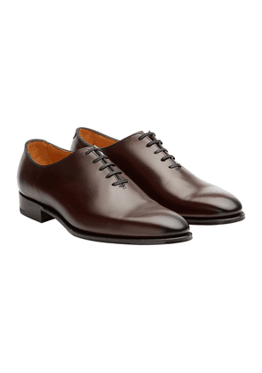 Edward Green Nightshade Leather Newbury Whole-Cut Shoes