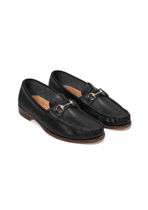 Oak street Bootmakers Black Leather Bit Loafer