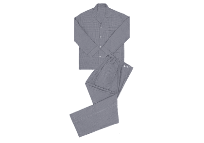 Anderson & Sheppard Grey Gingham Brushed Cotton Pyjamas