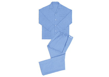 Anderson & Sheppard Blue Cashmere And Cotton Pyjamas