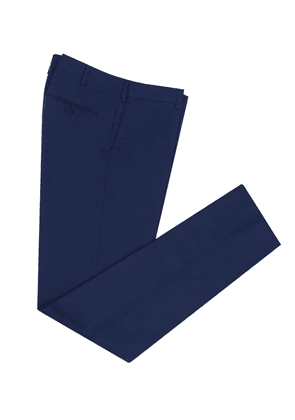 Cifonelli Navy Straight Leg Cotton Trousers