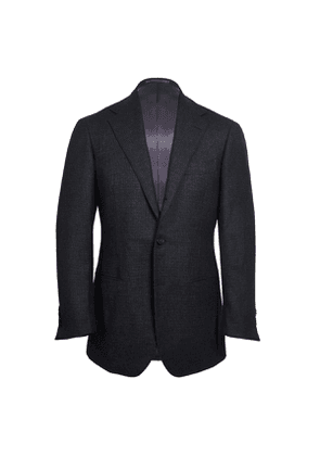 Ring Jacket Charcoal Houndstooth Calm Twist Wool Suit