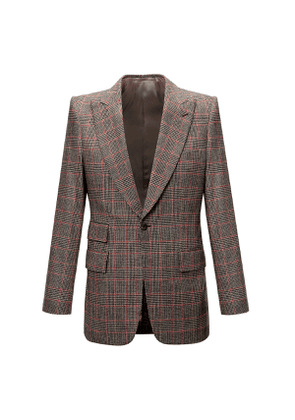 Cream, Red and Navy Prince of Wales Check Sports Jacket