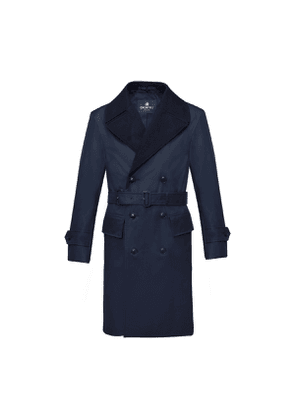Grenfell Navy Mayfair Merino Wool and Grenfell Cloth Trench Coat