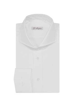G. Inglese White Cotton Shirt with French Cuffs