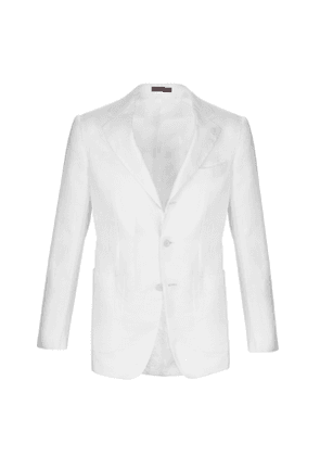Cifonelli White Linen Single-Breasted Jacket