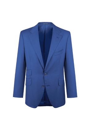 Hadleigh's Blue Wool Single-Breasted Two Piece James Suit