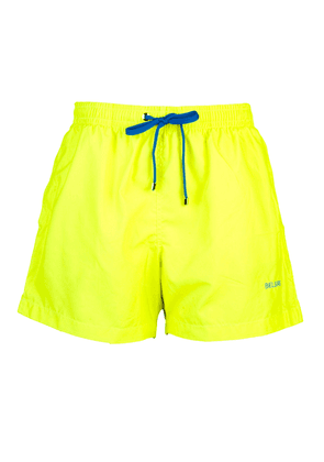 Belsire Yellow Fast-Dry Polyester Swimming Shorts