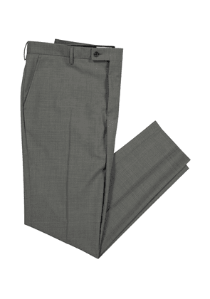 Ka/Noa Smart Grey Virgin Wool Stretch Boris Chino Trousers