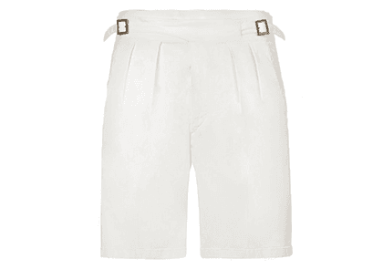 Rubinacci White Manny Cotton Shorts