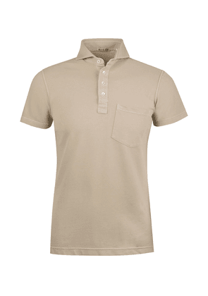 Naked Clothing Sand Cotton Blend Polo Shirt