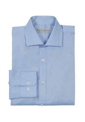 Gieves & Hawkes Sky Blue Tailored Fit Oxford Shirt