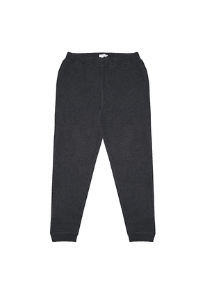 Sunspel Charcoal Melange Cotton Loopback Track Pant