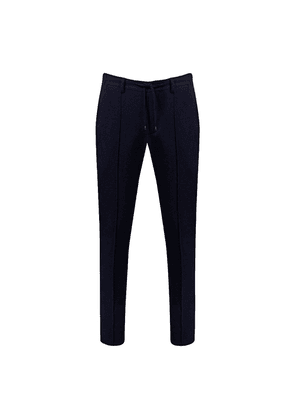 Navy Cashmere Drawstring Trousers