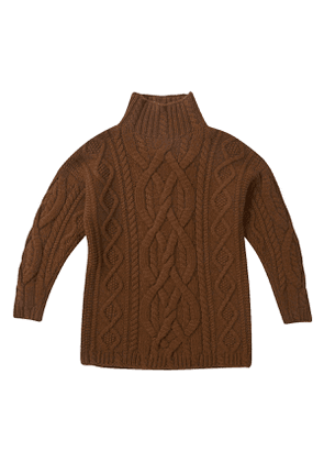 Brown Chunky Cable Knit Isy Jumper