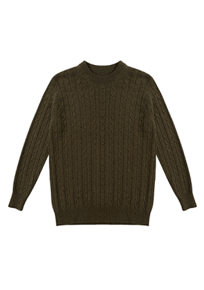 Loden Cashmere Cable Knit Jumper