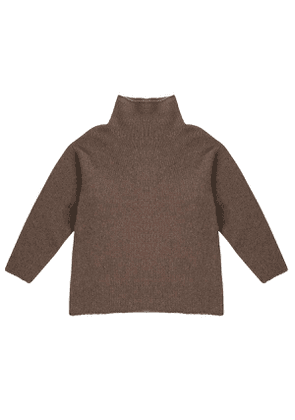 Taupe Chunky Long Sleeve Turtleneck Jumper