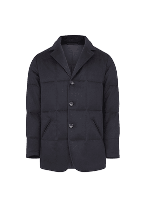 William & Son Navy Quilted Town Coat