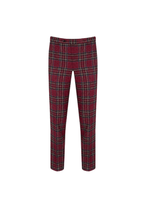 New & Lingwood Red Tartan Hockliff Trousers