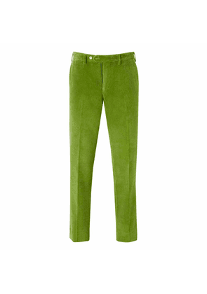 New & Lingwood Lime Cotton Corduroy Wode Trousers