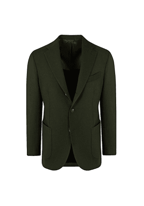 Doppiaa Green Wool Single-Breasted Suit