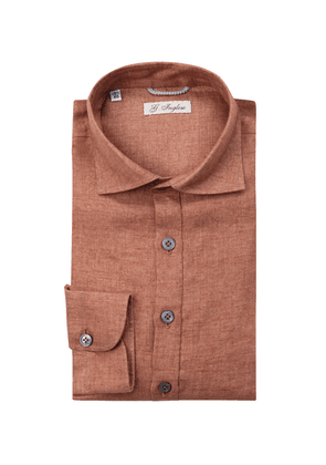 G. Inglese Brick Linen Long Sleeve Polo Shirt