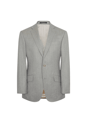 Soft Grey Flannel 120s Wool Single-Breasted Hyde Suit