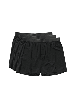 Black Lyocell Boxer Shorts 3-Pack