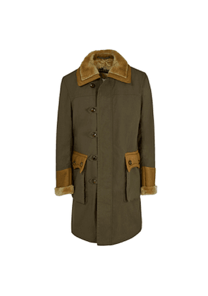 Grenfell Olive British Millerain Waxed Cotton Goteborg Zipped Coat