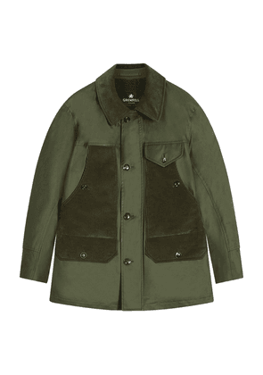 Grenfell Green Cotton and Corduroy Countryman Jacket