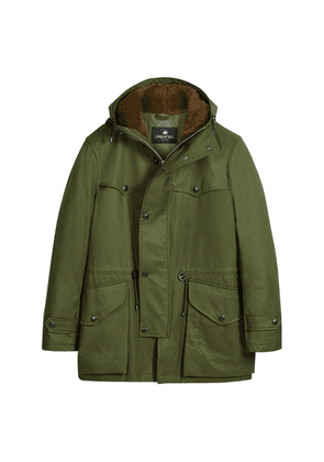 Grenfell Green Cotton Scafell Coat with Quilted Lining