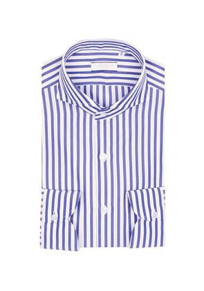 f6ad367d014ca2 Blue and White Egyptian Cotton Stripe Shirt