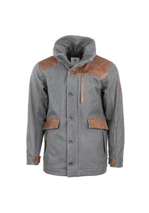 Alps & Meters Grey Wool and Leather Alpine Outrig Jacket