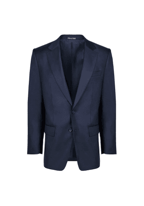 Navy Fine Solid Twill Suit