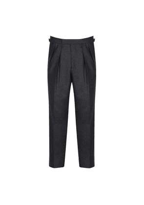 Kit Blake Charcoal Wool Aleksandar Pleated Trouser