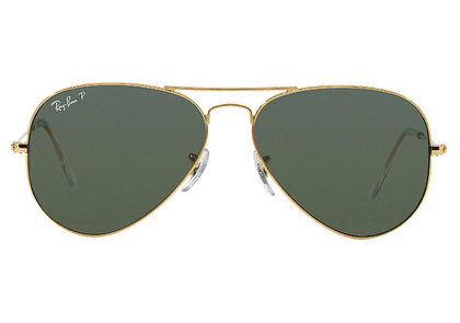 Ray-Ban Aviator Classic RB3025 001/58 Gold with Green Polarized Lenses Sunglasses