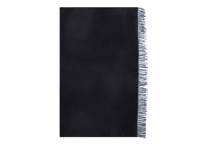 Begg & Co Blue and Black Cashmere Reversible Arran Throw