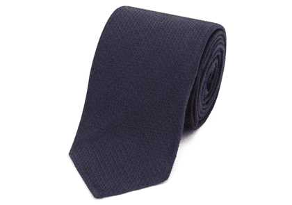 Salvatore Piccolo Navy Silk and Wool Tie