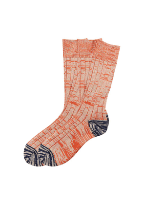 The Workers Club Orange Space Knit Cotton Socks 2-Pack