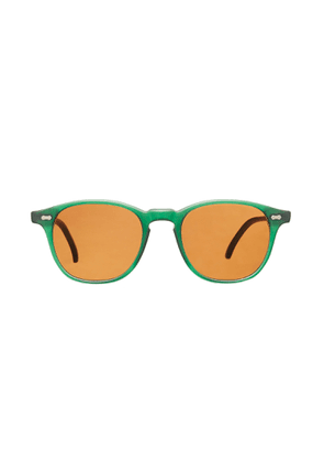 The Bespoke Dudes Eyewear Shetland Emerald Acetate Tobacco Lens Sunglasses