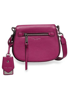 Marc Jacobs Woman Textured-leather Shoulder Bag Magenta Size -