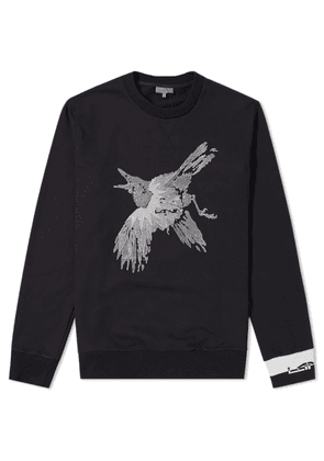 Lanvin Bird Embroidered Crew Sweat Black
