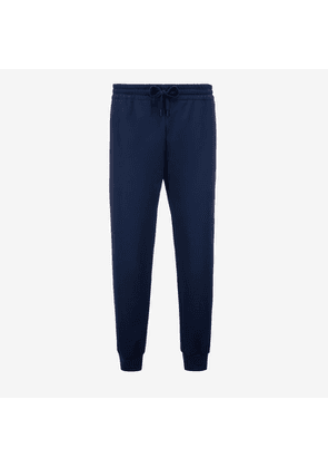 Bally Super Smash Lounge Trousers Blue, Men's cotton jacquard trousers in navy