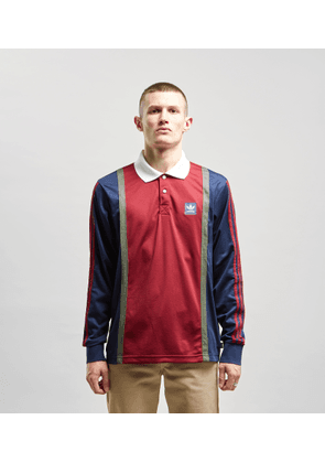 adidas Originals Skateboarding Rugby Top, Maroon/Navy