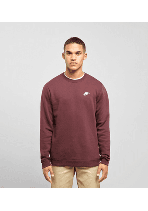 Nike Foundation Crew Sweatshirt, Burgundy/Burgundy