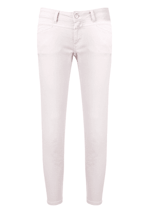 Closed cropped jeans - Pink