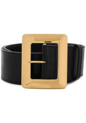 Erika Cavallini oversized buckle belt - Black
