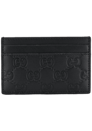 Gucci Gucci signature embossed card holder - Black