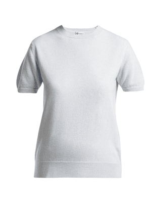 Connolly - Short Sleeved Cashmere Sweater - Womens - Light Blue