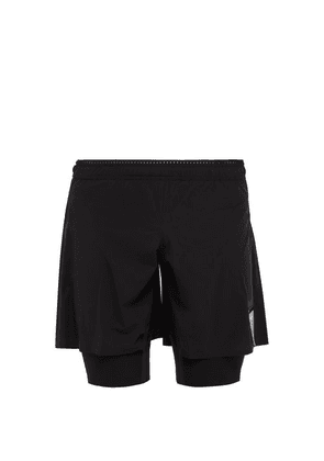 Satisfy - Justice Trail Double Layer Running Shorts - Mens - Black